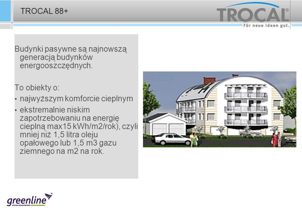 TROCAL 88+ Budynki pasywne są najnowszą generacją budynków energooszczędnych. To obiekty o: najwyższym komforcie cieplnym.