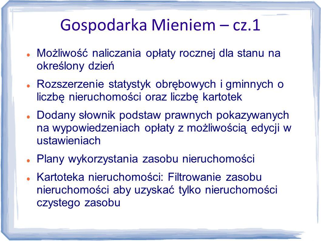 Gospodarka Mieniem – cz.1