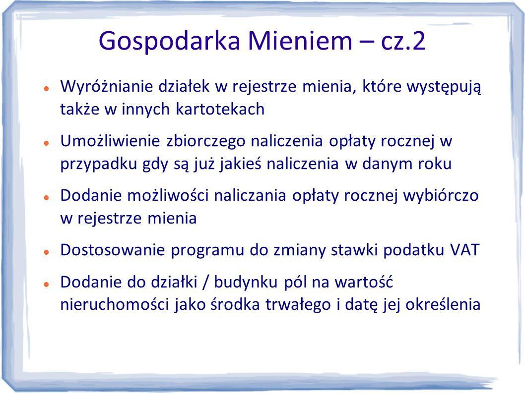 Gospodarka Mieniem – cz.2