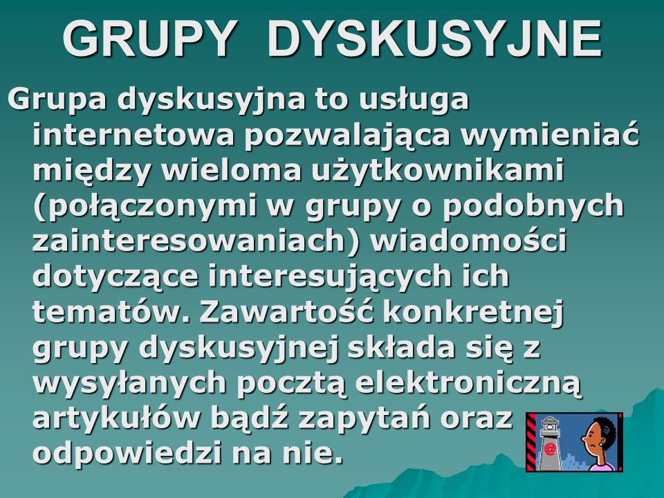 GRUPY DYSKUSYJNE