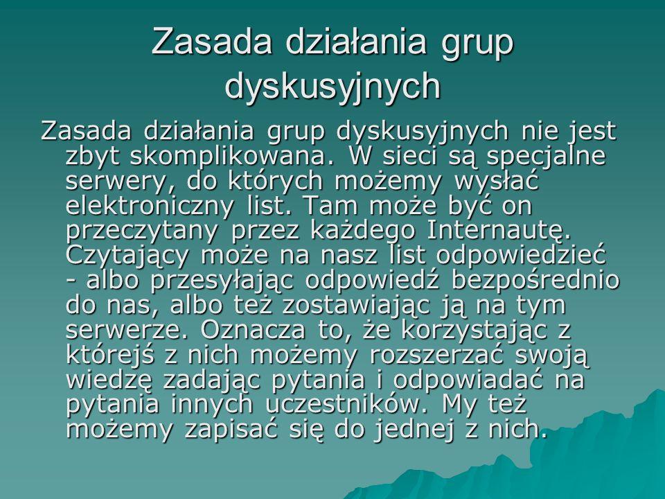 Zasada działania grup dyskusyjnych