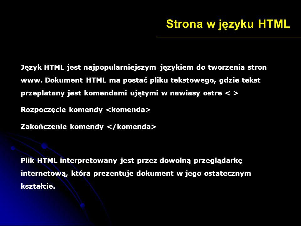 Strona w języku HTML