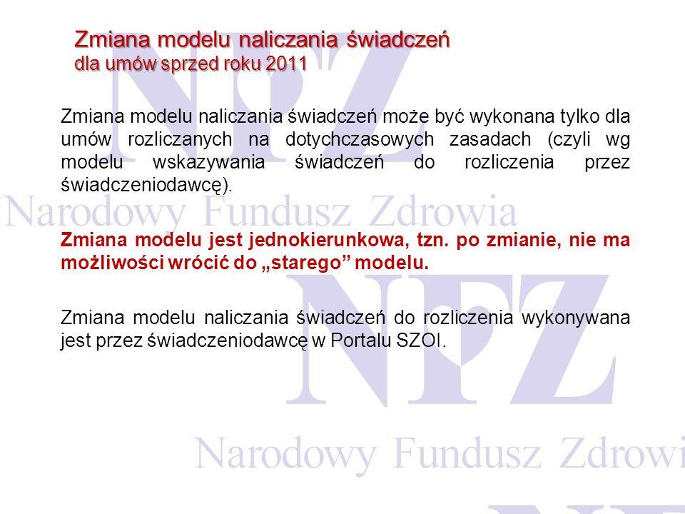 Zmiana modelu naliczania świadczeń dla umów sprzed roku 2011