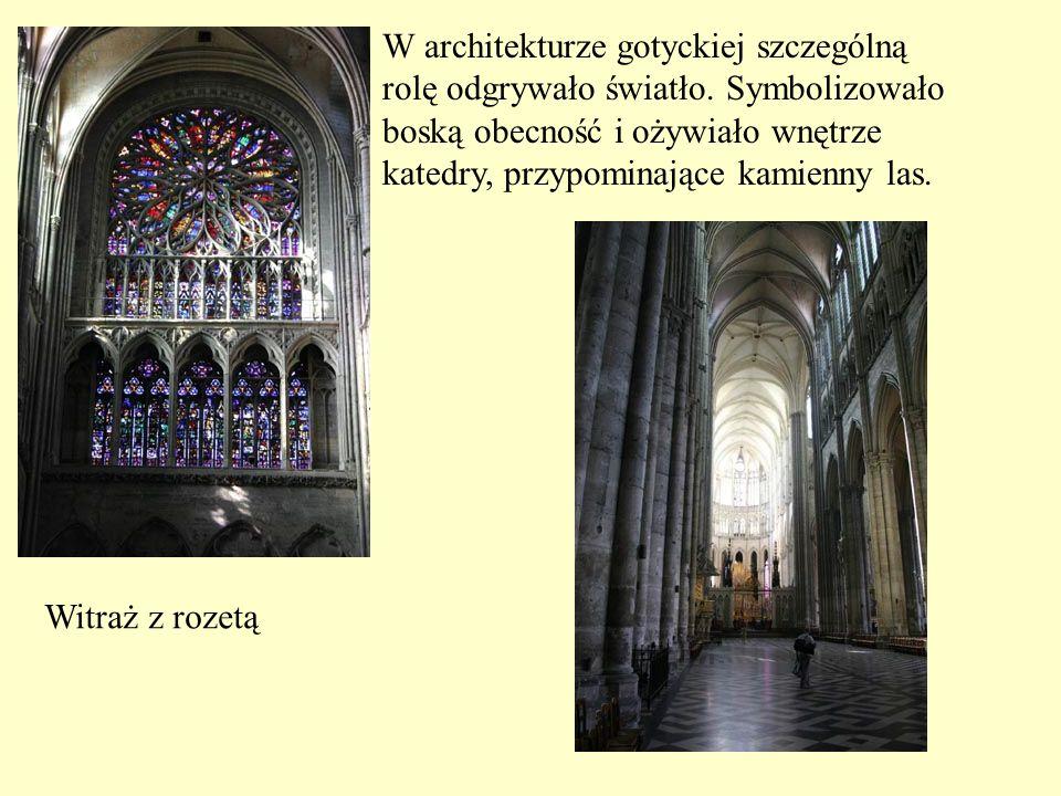 W architekturze gotyckiej szczególną
