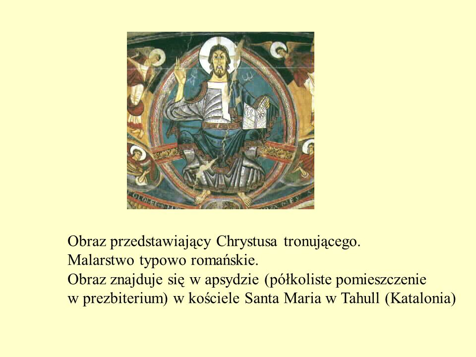 Obraz przedstawiający Chrystusa tronującego.