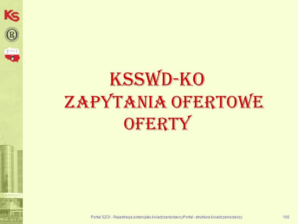 KSSWD-KO Zapytania ofertowe oferty