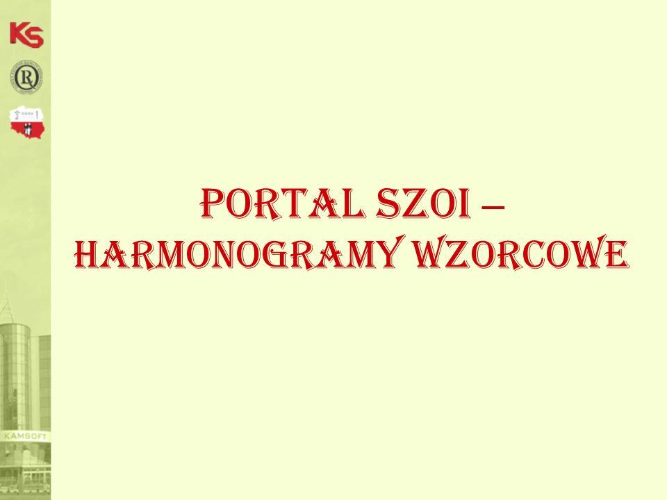 Portal SZOI – harmonogramy wzorcowe