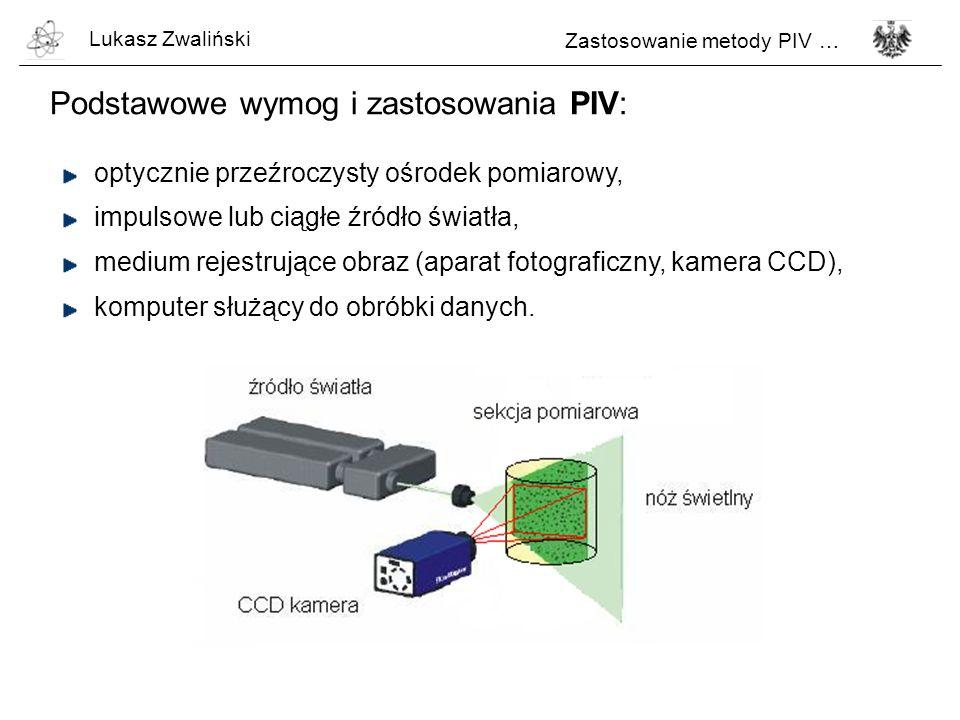Podstawowe wymog i zastosowania PIV:
