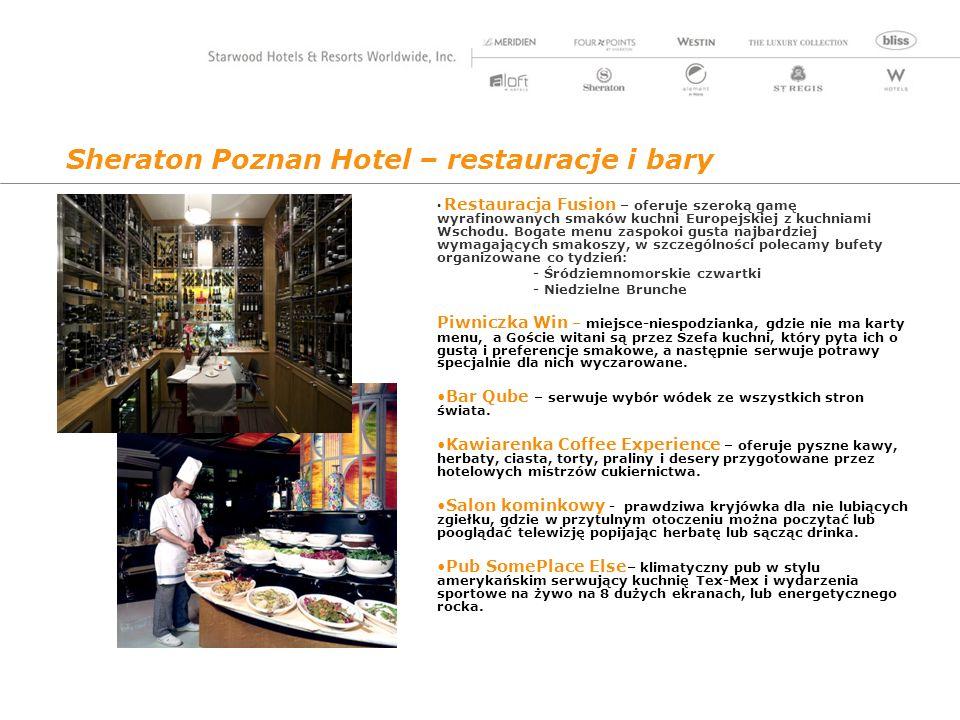 Sheraton Poznan Hotel – restauracje i bary