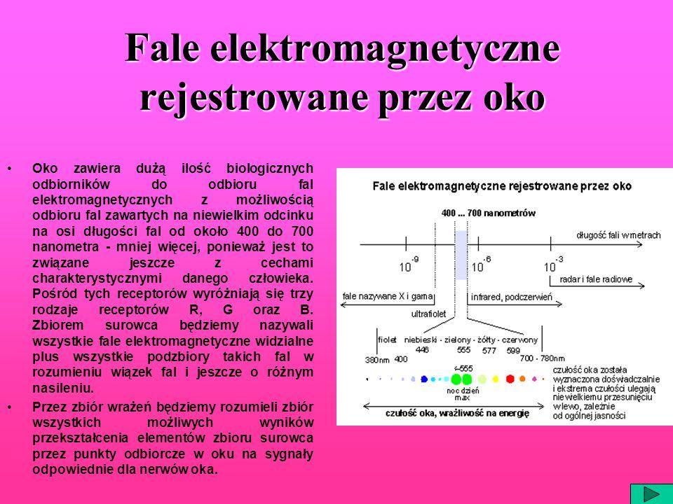 Fale elektromagnetyczne rejestrowane przez oko