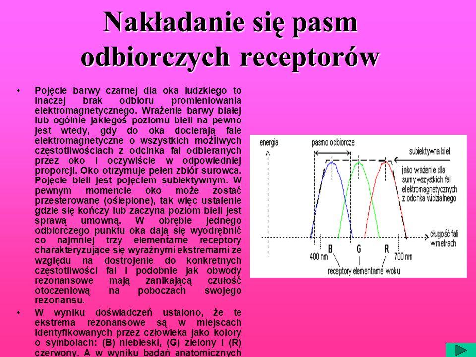 Nakładanie się pasm odbiorczych receptorów