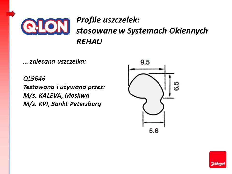 Profile uszczelek: stosowane w Systemach Okiennych REHAU