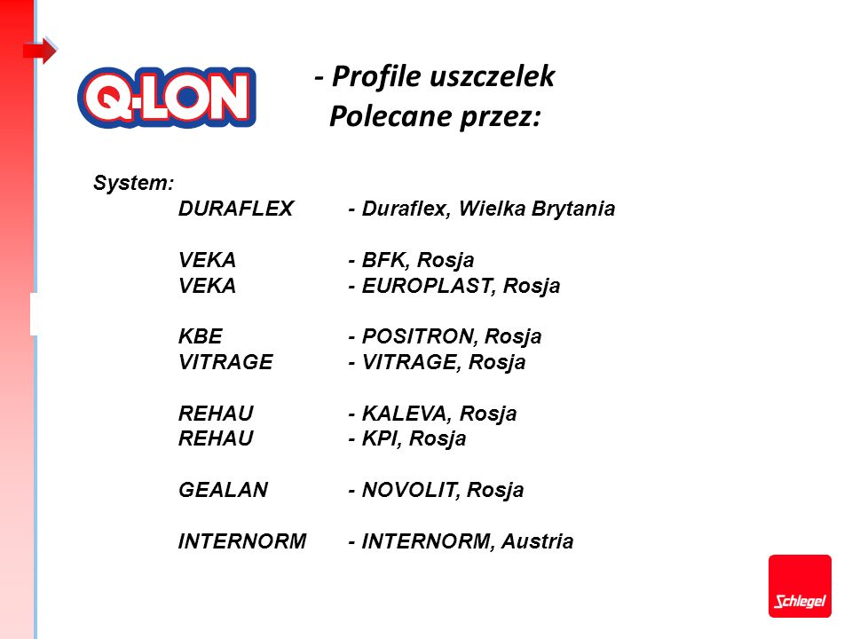 - Profile uszczelek Polecane przez: