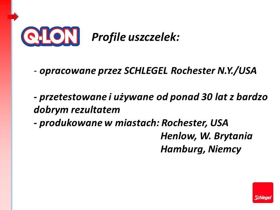 Profile uszczelek: