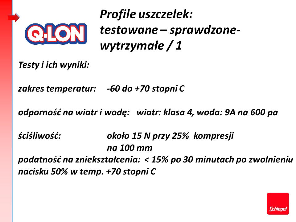 Profile uszczelek: testowane – sprawdzone- wytrzymałe / 1