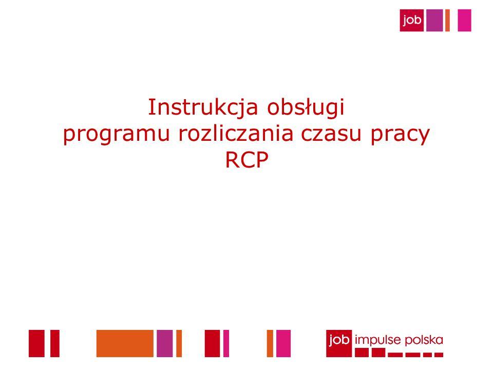 Instrukcja obsługi programu rozliczania czasu pracy RCP