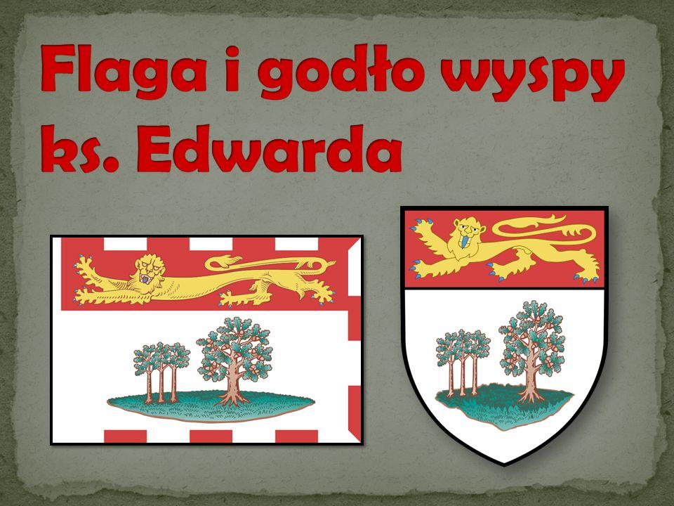 Flaga i godło wyspy ks. Edwarda