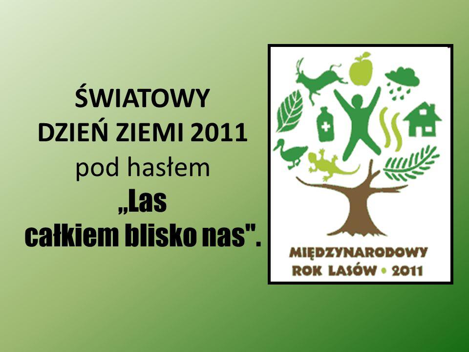 """ŚWIATOWY DZIEŃ ZIEMI 2011 pod hasłem """"Las całkiem blisko nas ."""