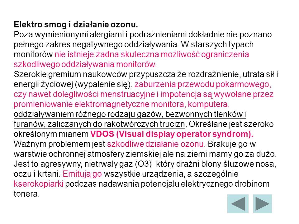 Elektro smog i działanie ozonu.