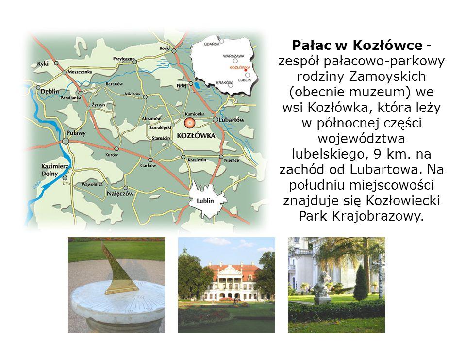 Pałac w Kozłówce - zespół pałacowo-parkowy rodziny Zamoyskich (obecnie muzeum) we wsi Kozłówka, która leży w północnej części województwa lubelskiego, 9 km.