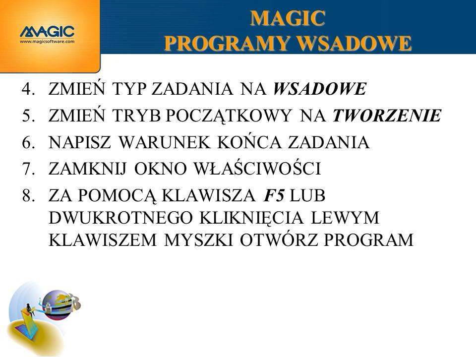 MAGIC PROGRAMY WSADOWE
