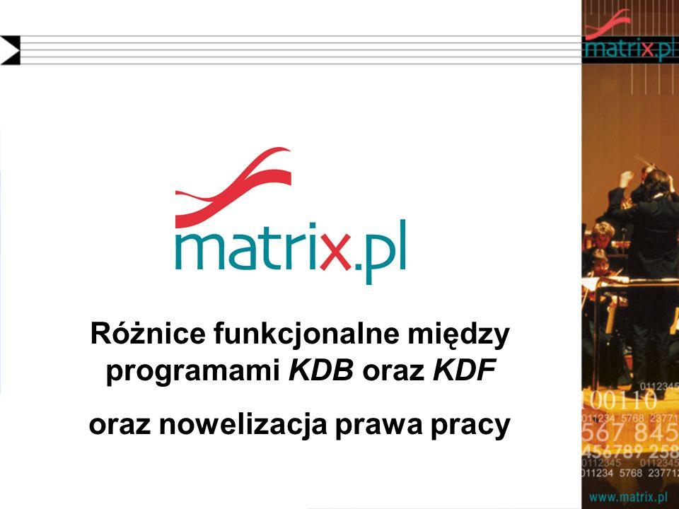 Różnice funkcjonalne między programami KDB oraz KDF