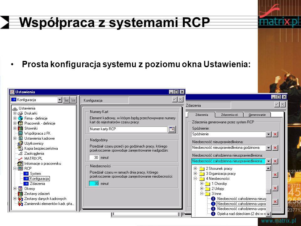 Współpraca z systemami RCP