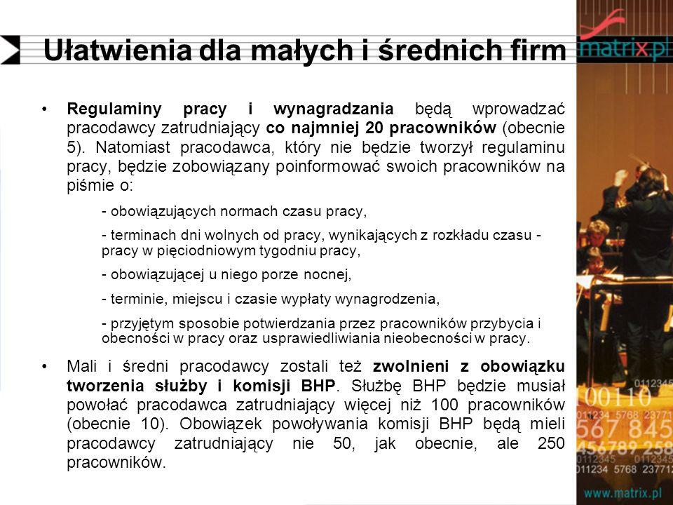 Ułatwienia dla małych i średnich firm