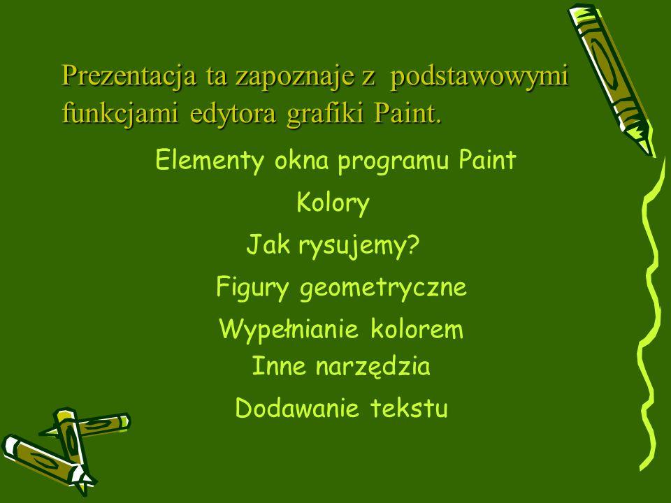 Elementy okna programu Paint