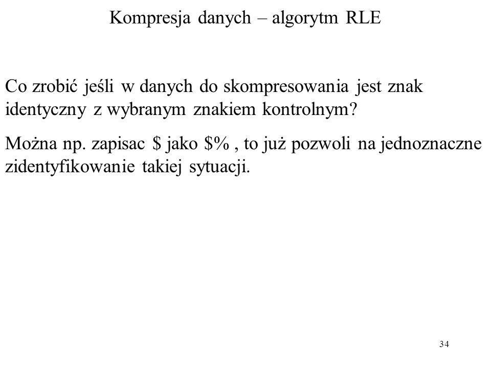Kompresja danych – algorytm RLE