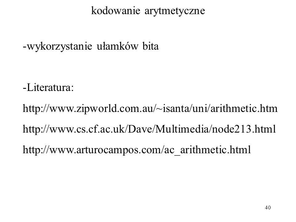 kodowanie arytmetyczne