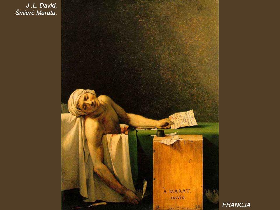 J .L. David, Śmierć Marata. FRANCJA