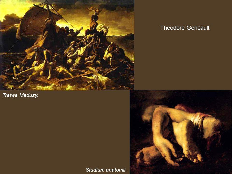 Theodore Gericault Tratwa Meduzy. Studium anatomii.