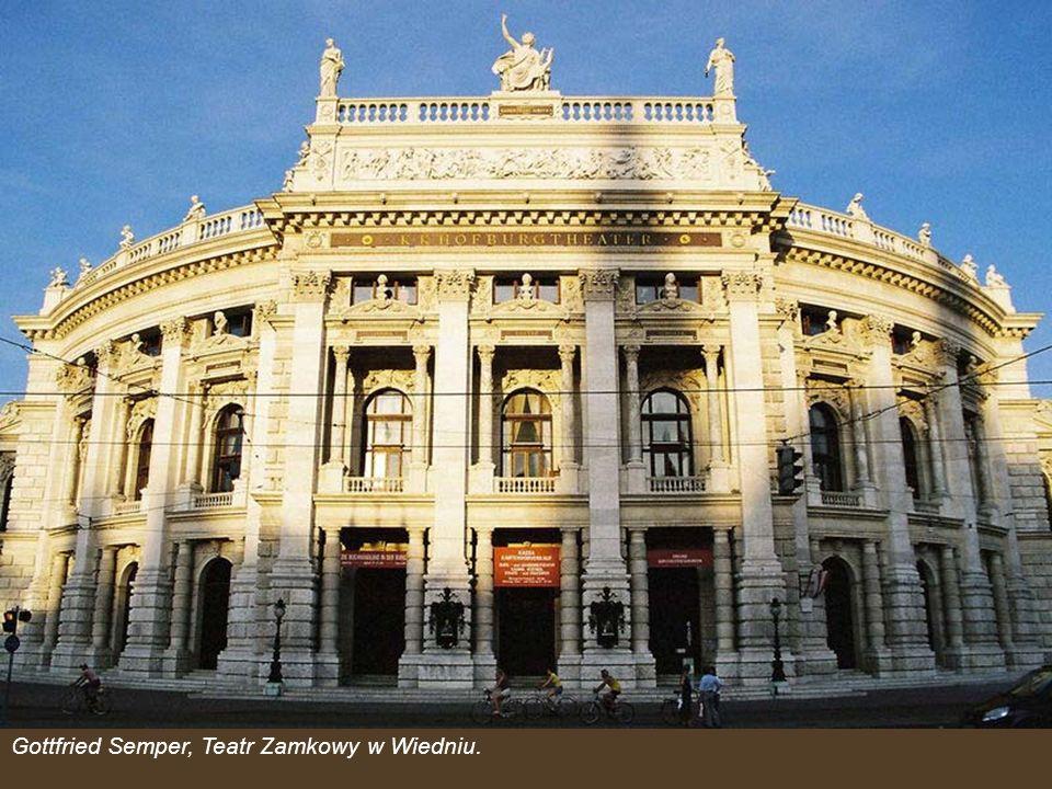 Gottfried Semper, Teatr Zamkowy w Wiedniu.