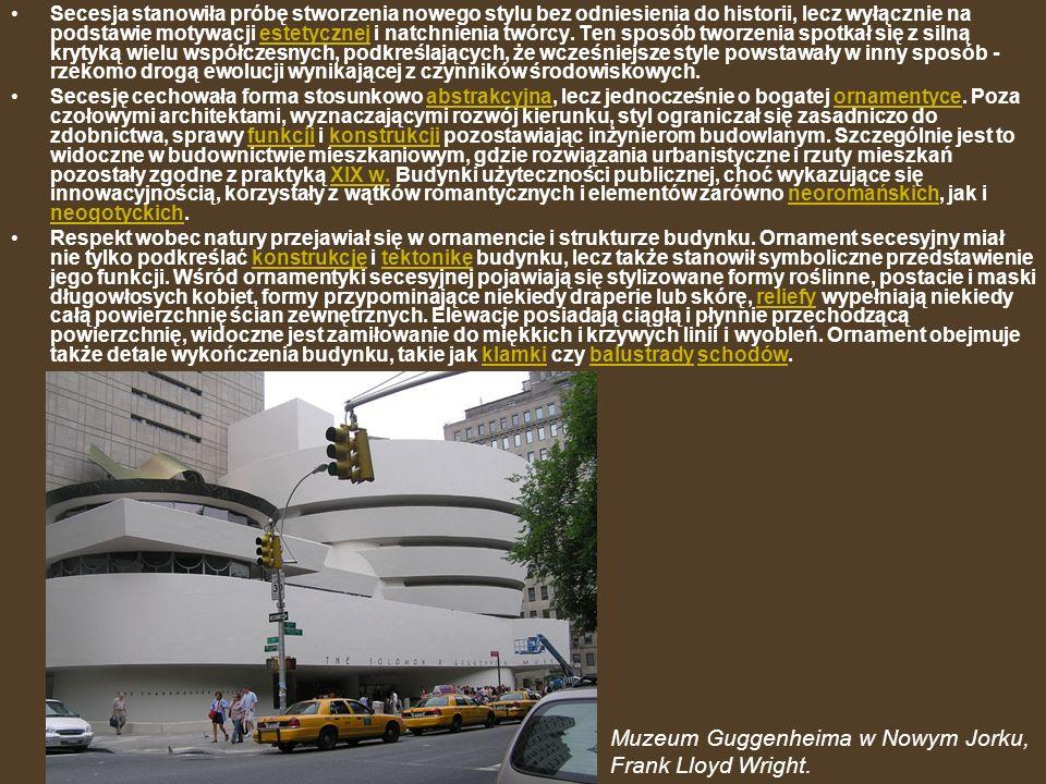 Muzeum Guggenheima w Nowym Jorku, Frank Lloyd Wright.