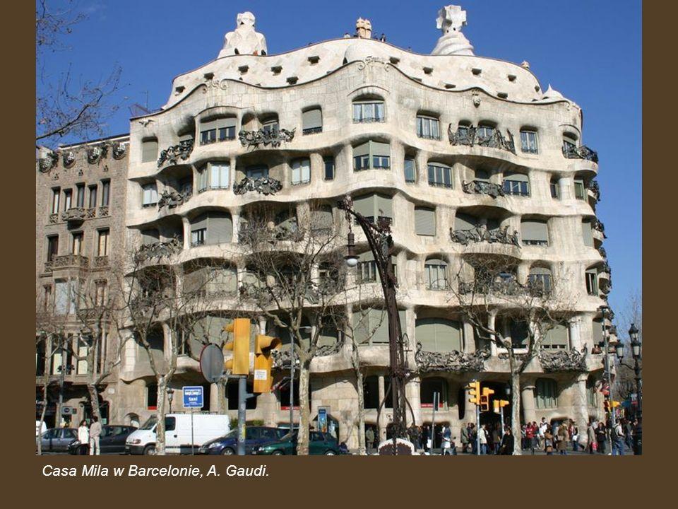 Casa Mila w Barcelonie, A. Gaudi.
