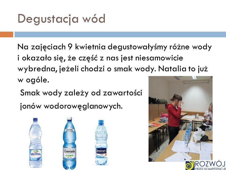 Degustacja wód