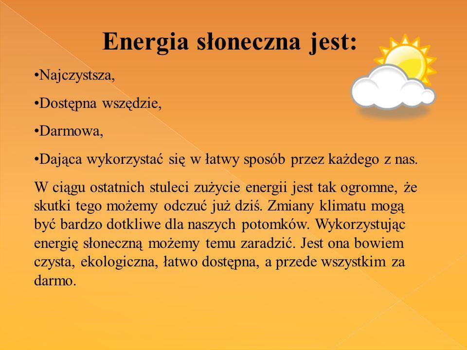 Energia słoneczna jest: