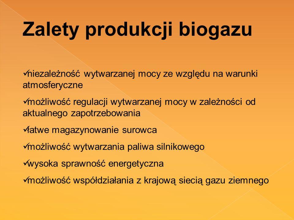 Zalety produkcji biogazu