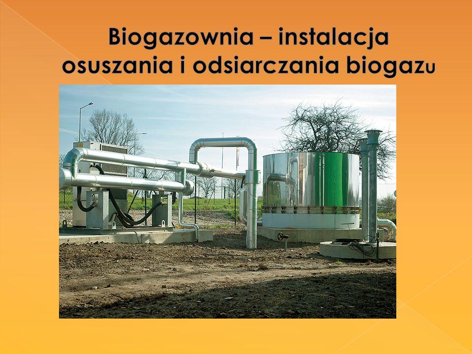 Biogazownia – instalacja osuszania i odsiarczania biogazu