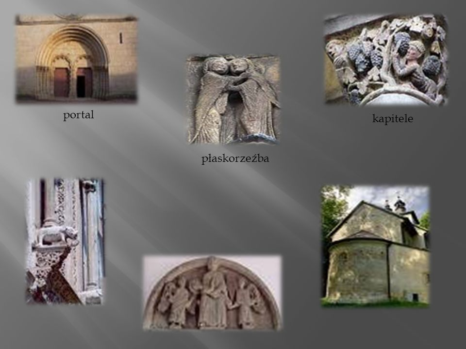 portal kapitele płaskorzeźba