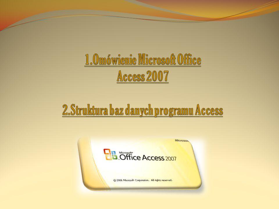 1. Omówienie Microsoft Office Access 2007 2