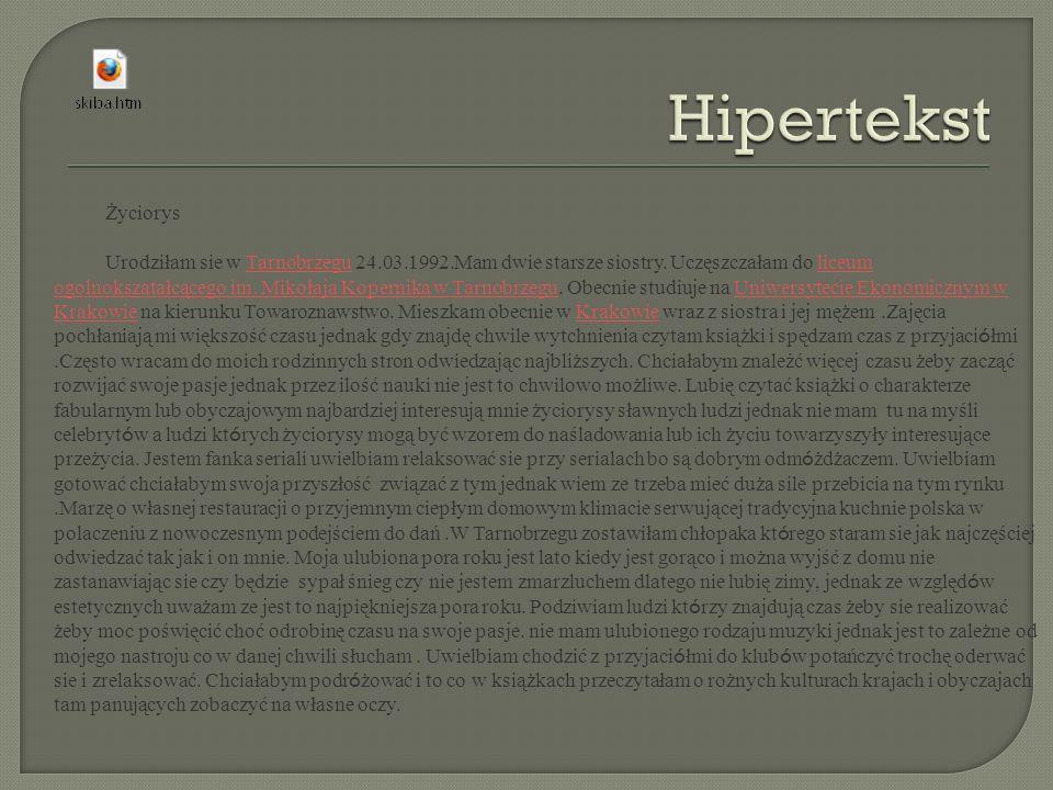 Hipertekst Życiorys.