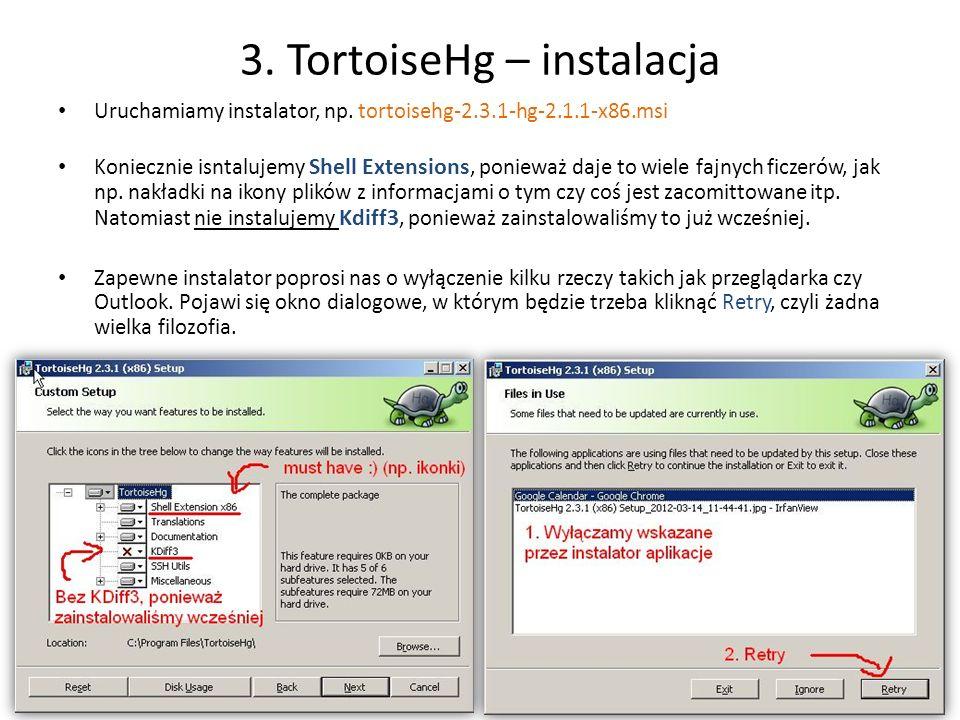 3. TortoiseHg – instalacja
