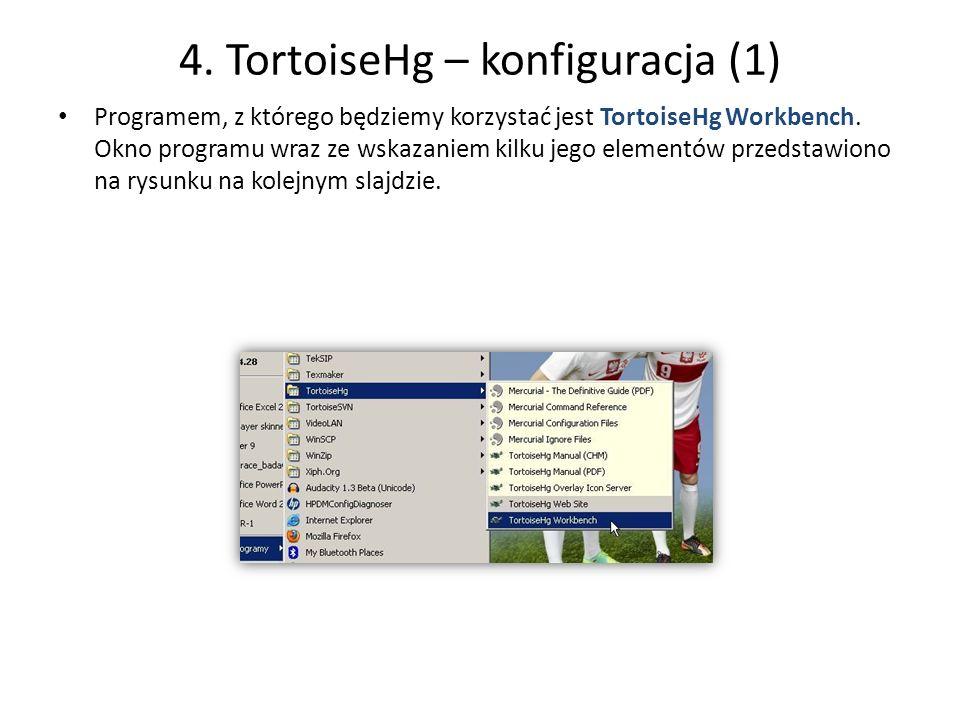 4. TortoiseHg – konfiguracja (1)