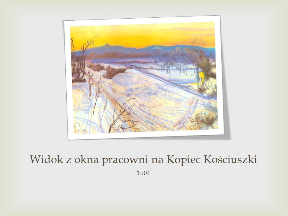 Widok z okna pracowni na Kopiec Kościuszki