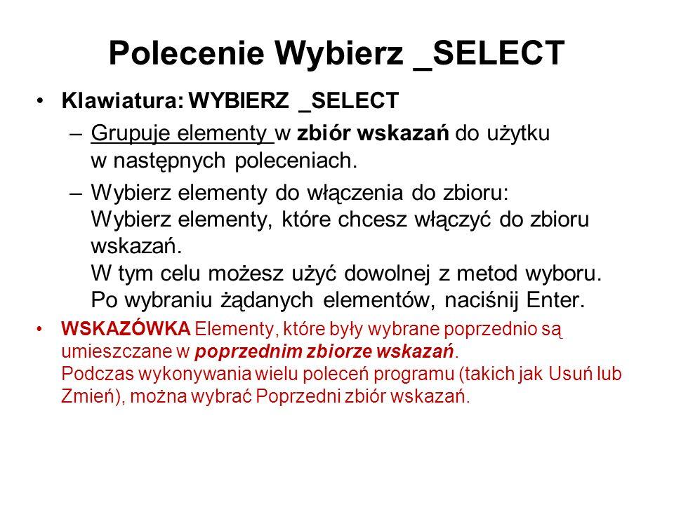 Polecenie Wybierz _SELECT