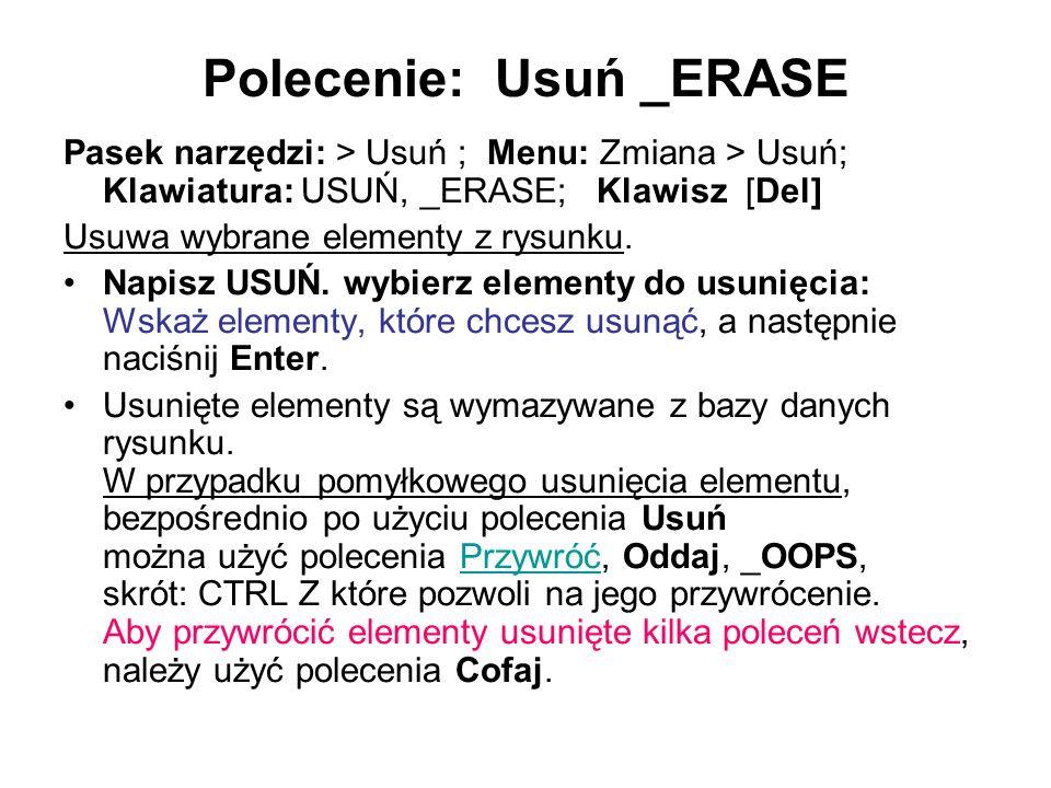 Polecenie: Usuń _ERASE