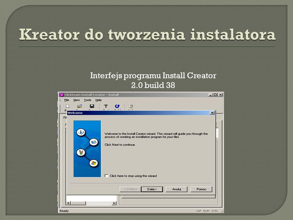 Kreator do tworzenia instalatora
