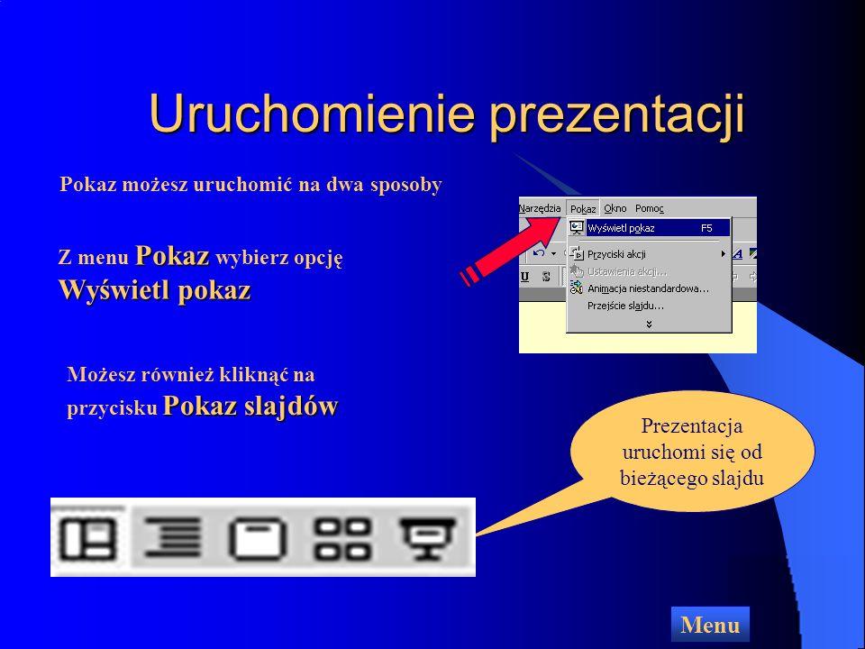 Uruchomienie prezentacji